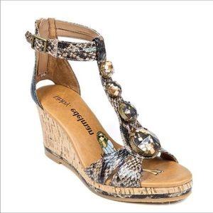 Shoes - Bani Gladiator Wedge Sandal Libby EDLEMAN 7.5